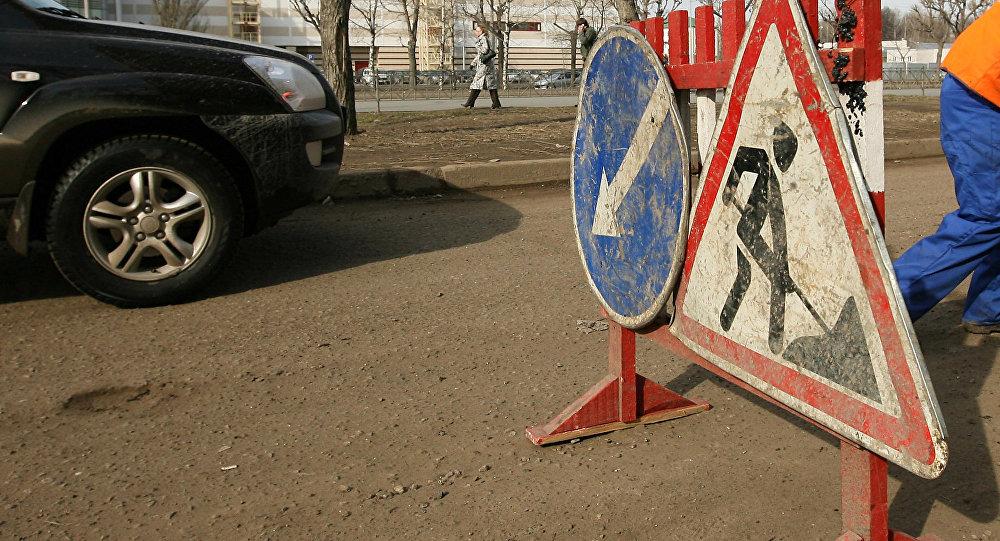 Ямочный ремонт дорог. Архивное фото
