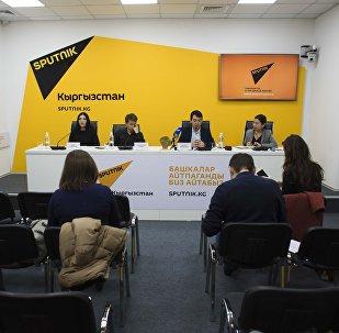 Пресс-конференция в мультимедийном центре Sputnik Кыргызстан съемочной группы кыргызской киноленты Завещание отца