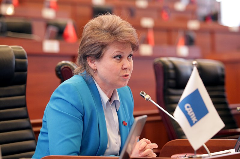 Депутат от фракции СДПК Ирина Карамушкина на заседании ЖК. Архивное фото