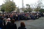 Митинг сотрудников Кыргызнефтегаз в городе Кочкор-Ата