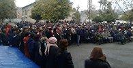 Сотрудники Кыргызнефтегаза на митинге в городе Кочкор-Ата