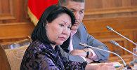 Архивное фото члена партии Ата-Мекен Асии Сасыкбаевой