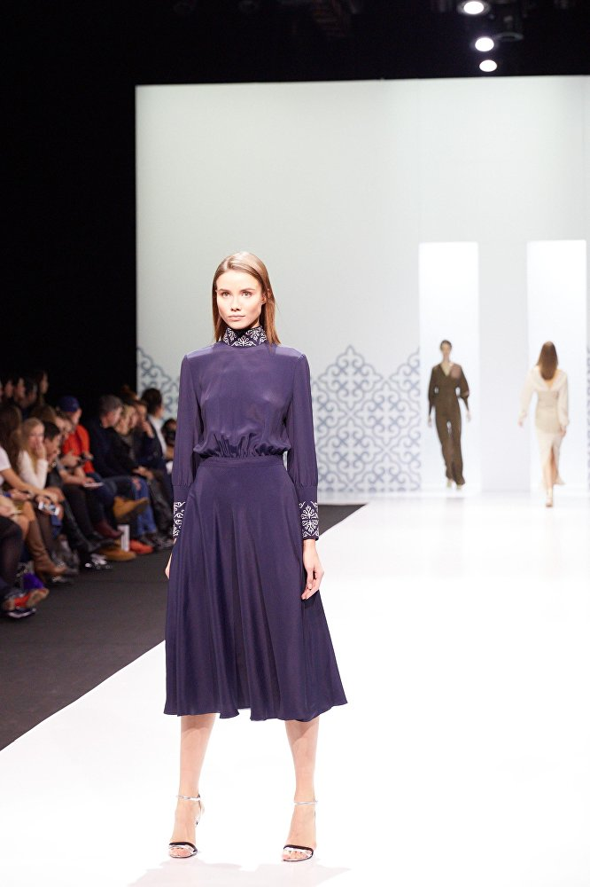 Показ кыргызстанского дизайнера Альбины Калыковой на Moscow Fashion Week
