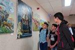 Кыргызстандык сүрөтчү Бузурманкул Мырзалиевдин сүрөт көргөзмөсү Астана шаарындагы Казакстан Улуттук сүрөт галереясында