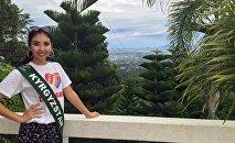 Филиппиндин борбору Манилада өтүп жаткан Жер сулуусу сынагынын катышуучусу Бегим Алмасбекова