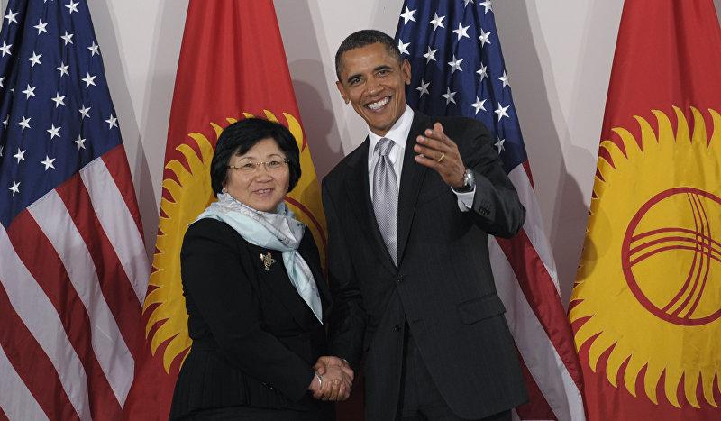 Президент Кыргызстана Роза Отунбаева и президент США Барак Обама. Нью-Йорк. 2010 год.
