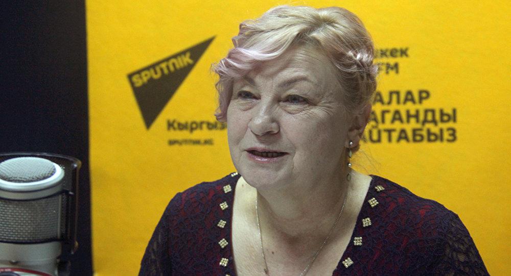 Руководитель общественного объединения Умут-Балыкчи Светлана Баштовенко во время интервью