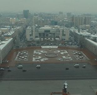 Карга оронгон Бишкек. Борбор калаанын асмандан көрүнүшү