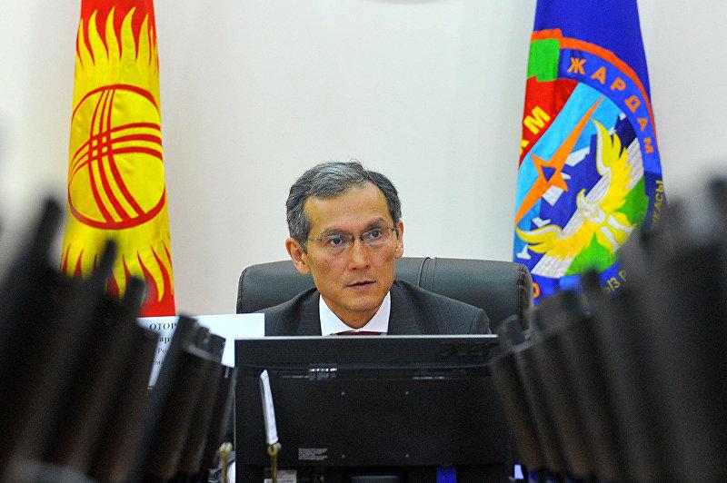 Джоомарт Оторбаев проводит селекторное совещание по вопросу подготовки к весенне-полевым работам, 20 марта 2015