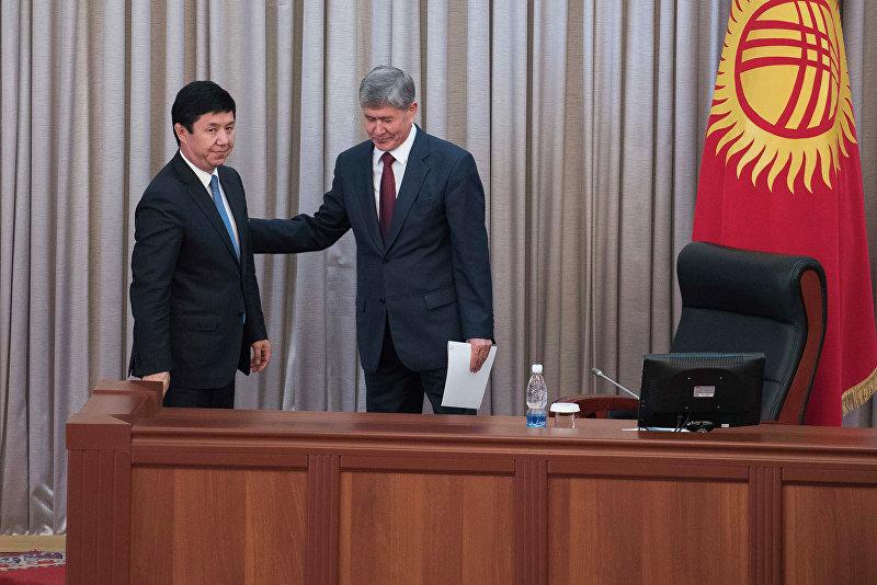 Премьер-министр Кыргызстана Темир Сариев и глава государства Алмазбек Атамбаев