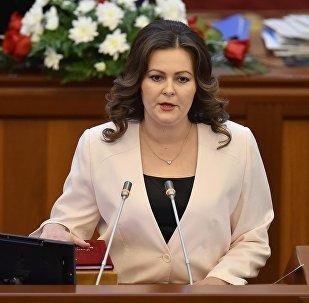 Архивное фото депутата Жогорку Кенеша от фракции Ата Мекен Натальи Никитенко