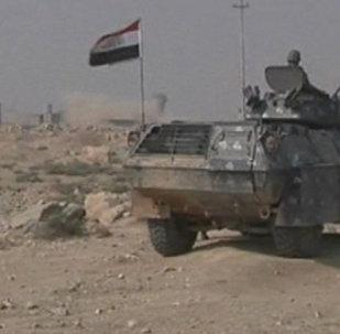 Бойцы иракской армии перекрыли дорогу в регионе Шора южнее Мосула