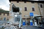 Разрушенный дом в селе Виссо, центральная Италия.