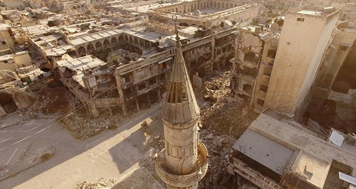 Вид на город Алеппо, восточная часть. Архивное фото