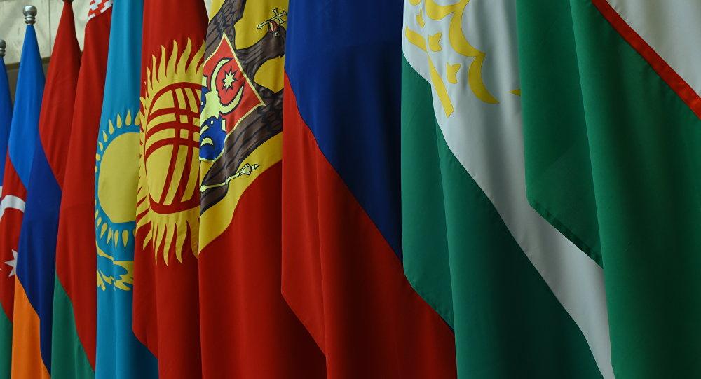 Флаги стран бывшего СССР. Архивное фото