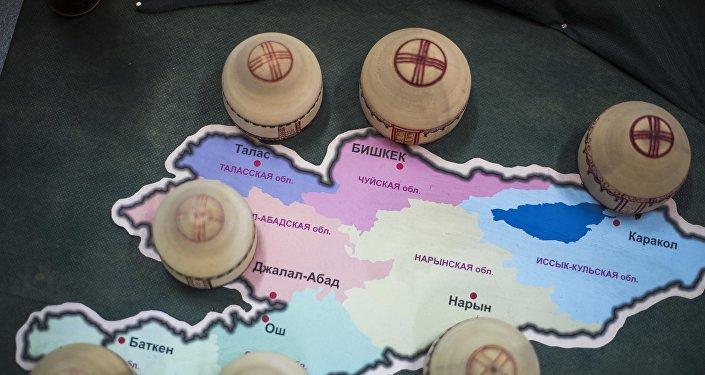 Кыргызстандын картасы. Архив