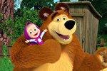 Маша и медведь мультфильминен алынган кадр