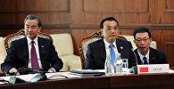 Премьер Госсовета КНР Ли Кэцян на заседании Совета глав правительств стран ШОС в узком составе