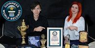 Кыргызстанские иллюзионисты Радислаф Сафин и Ольга Крамер вписали свои имена в Книгу рекордов Гиннесса