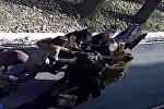 Бишкектин чок ортосундагы кыздардын мушташы камерага түшүп калган
