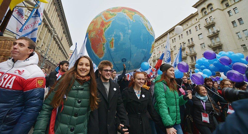 В столице России началось шествие вчесть Дня народного единства