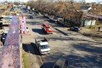 Пожарная служба на месте пожара на западе Бишкека