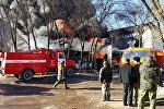 Бишкектин батыш тарабында Садыгалиев көчөсүнө жакын аймакта күйүүчү май сакталган кампадагы өрт
