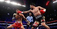 Боксерский бой между филиппинским боксером Мэнни Пакьяо и американцем Джесси Варгаса