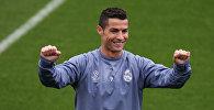 Реал Мадрид футболдук клубунун оюнчусу Криштиану Роналду машыгуу учурунда