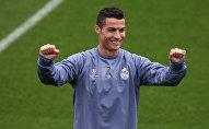 Португалиялык атактуу футболчу Криштиану Роналду машыгуу учурунда. Архив