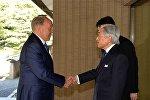 Казакстандын президенти Нурсултан Назарбаев Япониянын императору Акихито менен жолугушту