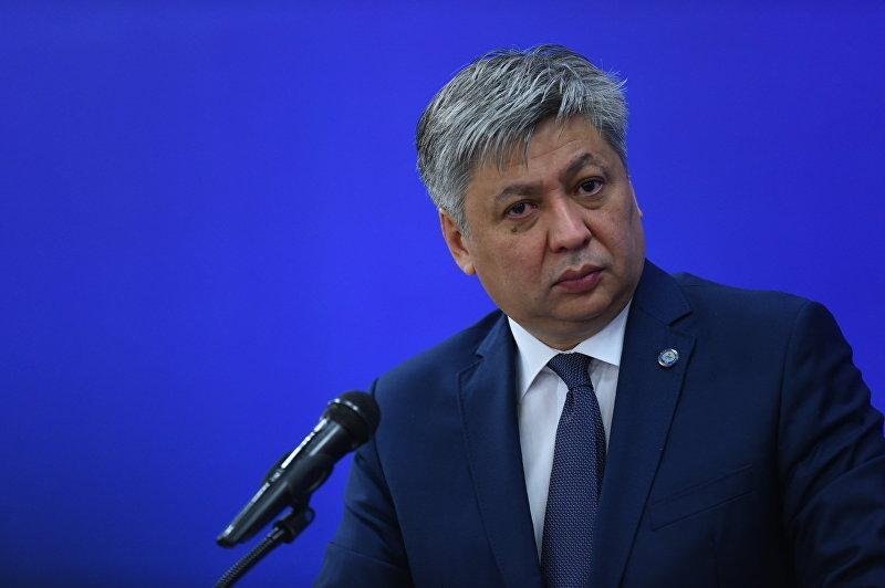 Глава МИД КР Эрлан Абдылдаев на заседании Совета министров иностранных дел СНГ в узком составе