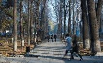 Школьники на проспекте Эркиндик в Бишкеке. Архивное фото