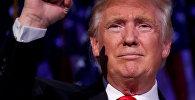 Архивное фото Дональда Трампа на предвыборном митинге в Манхэттене, Нью-Йорк, США