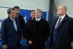 Президент Алмазбек Атамбаев принял участие в церемонии открытия физкультурно-оздоровительного комплекса в городе Ош