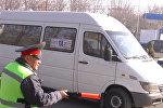 Рейд: милиция маршруттук таксилерди аңдыды