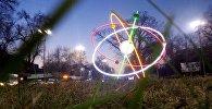 Чүй проспектисиндеги Улуттук илимдер академиясынын жанындагы Атом модели. Архивдик сүрөт
