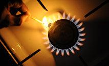 Пламя газовой плиты. Архивное фото