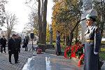 Бишкектин борборундагы Эмен багында Кыргызстанды чейрек кылым башкарган саясий жана мамлекеттик ишмер Турдакун Усубалиевдин эстелиги ачылды