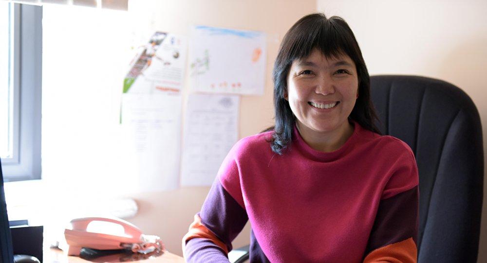 Архивное фото руководителя пресс-службы мэрии Бишкека Гули Алмамбетовой
