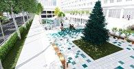 Проект благоустройства территории, прилегающей к фонтану Сказка (Золотые рыбки) в Бишкеке