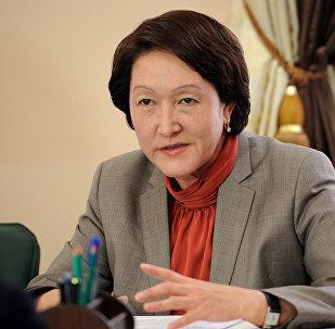 Архивное фото председателя Центральной комиссии по выборам и проведению референдумов Кыргызской Республики Нуржан Шайлдабековой