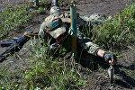 Военнослужащие вооруженных сил Казахстана во время учений. Архивное фото