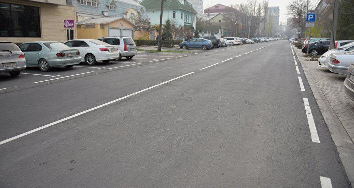 Отремонтирован отрезок улицы Орозбекова от Токтогула до Московской
