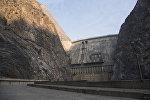 Архивное фото плотины Токтогульской ГЭС