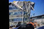 Декоративная мостовая конструкция, которая обрушилась в среду на территории выставки ЭКСПО — 2017 в Казахстане