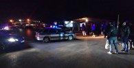 Автомобиль полиции на пункте пропуска Кордай