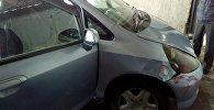 Место убийства таксиста в Бишкеке
