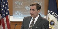 Фрагмент интервью RT c представителем Госдепартамента США Джоном Кирби