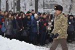 Учащиеся столичных школ и вузов на митинге в честь 75-летия подвига знаменитой 316-й стрелковой дивизии